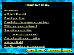 persuasive essay introduction a writer s checklist choosing an  persuasive essay introduction a writer s checklist choosing an issue