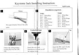 wiring diagram rj keystone jack wiring diagram and schematic how to terminate work cables rj45 keystone jacks of rj11 keystone jack wiring diagram
