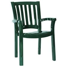 Green plastic patio chairs Vinyl Bison Office Sunshine Resin Dining Arm Chair Green Set Of