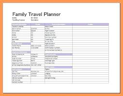 Free Travel Itinerary Template Excel Printable Vacation