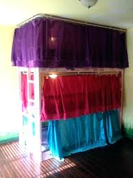 tent over bed bunk diy tent bed canopy