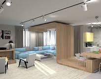 Курсы дизайна интерьера в Москве для начинающих Современная  Дизайн проект квартиры День независимости Дипломная работа Елены Аврамишиной