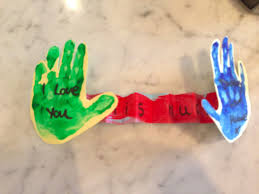 I Love You Crafts Toddler Arts And Crafts June I Love You This Much Daddy