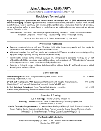 Radiologic Technologist Resume Sample Free Download Vinodomia