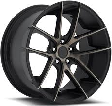 5x115 Bolt Pattern Mesmerizing TARGA M48 BLACK RIM With MACHINED FACE DDT By NICHE WHEELS