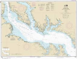 Potomac River Charts Noaa Chart Potomac River Piney Point To Lower Cedar Point 12286