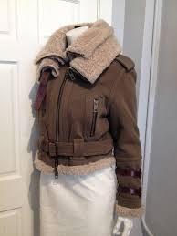military inspired er jacket from burberry prorsum olive wool exterior sheepskin shearling lining
