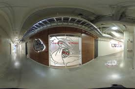 the glass entry doors of the recently remodeled gonzaga men s basketball locker room jesse