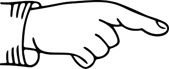 Free Clipart Of A Hand Pointing A Finger Black White
