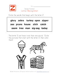 Words That Start With The Letter Z