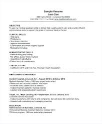 Medical Assistant Resume Samples Simple Resume Examples For Objective Medical Assistant Resume Examples