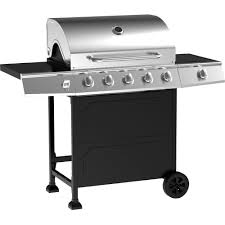 gas grill 5 burner stainless steel bbq lp propane outdoor barbecue cooker patio