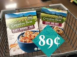 we have a new coupon to share it s for cascadian farm s and cascadian farm cereal items just so happen to be in our kroger mega event for 1 89