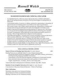 Special Education Cover Letter Examples Current Photos Resume Ideas