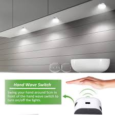 under cabinet lighting switch. Ustellar Updated LED Under Cabinet Lighting Kit, 510lm, Hand Wave Activated Control Counter Lights, Puck DC 12V Kitchen Lighting, Switch I