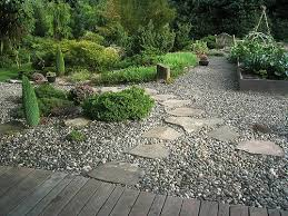 Small Picture Kitchen garden bed integrated with gravel and paving stone