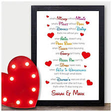 i love you disney couples personalised valentines day gifts for him her mr mrs personalised