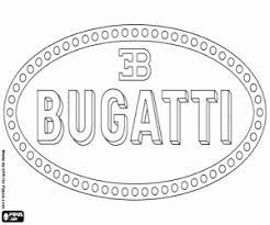 Kleurplaat Bugatti Logo Kleurplaten