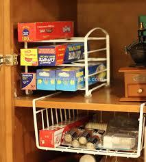Under Cabinet Shelf Kitchen Under Shelf Wire Rack Basket Kitchen Organizer White Easy To