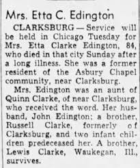 Obituary for Etta Clarke Edington (Aged 84) - Newspapers.com