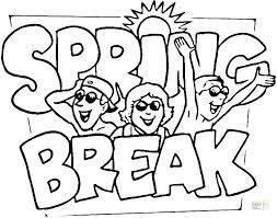 Spring Printable Coloring Sheets Spring Color Sheets Spring Break