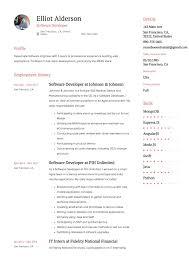 Mobile Developer Resume Elliot Alderson Software Developer Resume Example Software Developer