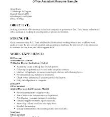 Administration Office Resume Office Assistant Resume Sample Office