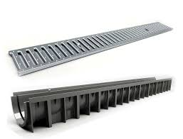 drainage channel with cover galv grate