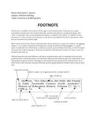 footnotes and works cited footnote and bibliography