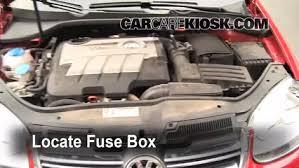 blown fuse check 2005 2014 volkswagen jetta 2008 volkswagen locate engine fuse box and remove cover