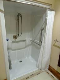 roll in shower handicapped design temporary stall tide curtain what is a single ended top bath