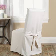 Slipcovers Living Room Chairs Sure Fit Cotton Duck Full Length Dining Room Chair Slipcover