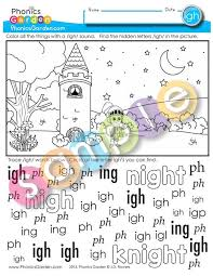 Our phonics activities are designed to target areas of need to help children progress. Phonics Garden Igh Picture Find Extension2 Fun 1