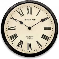 smiths large roman wall clock 50cm