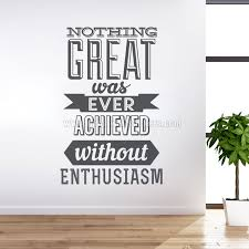 office wall stickers. Achieve With Enthusiasm Wall Decal Office Stickers