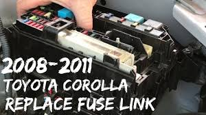 2008 2011 toyota corolla fuse link replacement fusible alternator 2006 corolla fuse box location 2008 2011 toyota corolla fuse link replacement fusible alternator fuse