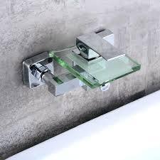 waterfall bathtub faucet wall mount free brass and glass faucet waterfall bathtub faucet wall mounted