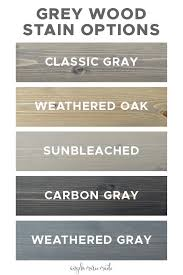 Varathane Classic Wood Stain Color Chart 5 Grey Wood Stain Options Angela Marie Made