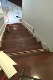 brazilian cherry 12 3mm laminate flooring staircase installation in boca raton florida