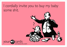 Funny Baby Shower Invitation Sarcastic Baby Shower Invitation Humorous Baby Shower Invitations
