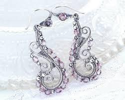 blush pink earrings antique silver chandelier earrings blush dangle earrings unique wedding cocktail