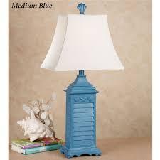 coastal decor lighting. Shell Shutter Table Lamp Each Coastal Decor Lighting