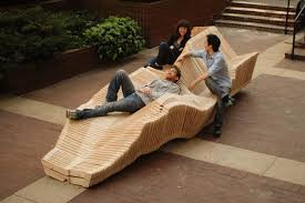 Kinetic Bench System Slinky Inspired Shape Shifting Seat