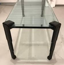 art deco skyser glass top coffee table