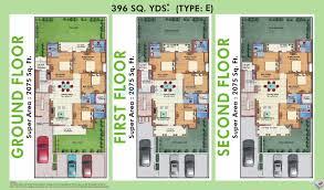 4 bhk 2075 sq ft ind floor floor plan