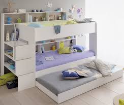 90x200 Kinder Etagenbett Wei Grau Mit Bettkasten Treppe Und