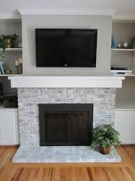 Gray Brick Fireplace White Washing Brick Fireplace Home Staging In Bloomington Illinois