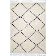 jessie moroccan lattice tassel off white 7 ft 10 in x 10 ft