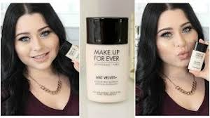 makeup forever mat velvet foundation 7 5 coffee review w swatch