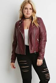 forever 21 quilted faux leather moto jacket plus size